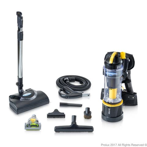2019 Prolux 2.0 Commercial Bagless Backpack Vacuum with Electric Power Nozzle Kit