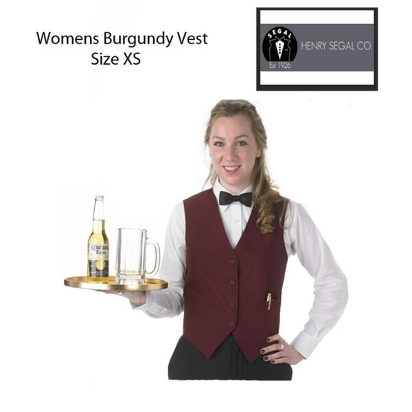 Womens XS Catering Professional Vest Burgundy
