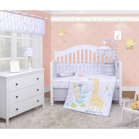 OptimaBaby Giraffe animal 6 Piece Baby Nursery Crib Bedding Set