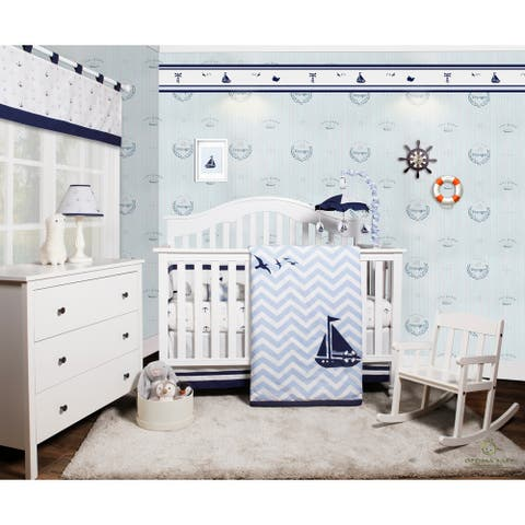OptimaBaby Sailor 6 Piece Baby Nursery Crib Bedding Set