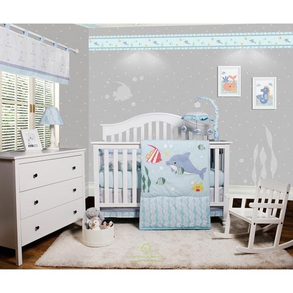 OptimaBaby Ocean Animal 6 Piece Baby Nursery Crib Bedding Set