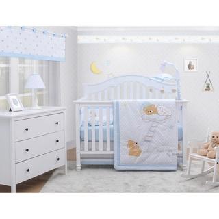 OptimaBaby Teddy Bear 6 Piece Baby Nursery Crib Bedding Set