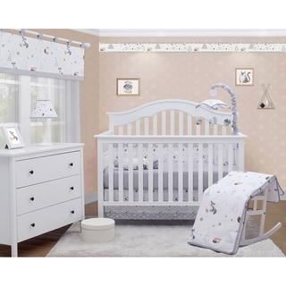 OptimaBaby Woodland Forest Fox 6 Piece Baby Nursery Crib Bedding Set