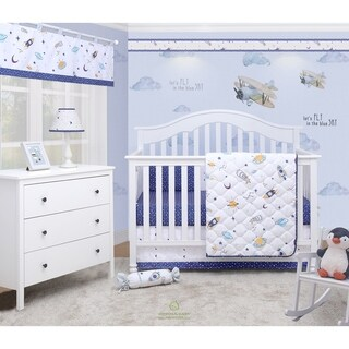 OptimaBaby Outer Space Galaxy 6 Piece Baby Nursery Crib Bedding Set
