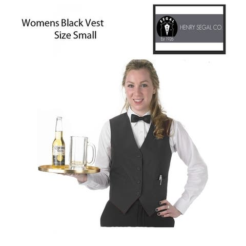 Women's Size Small Catering Professional Vest, Black