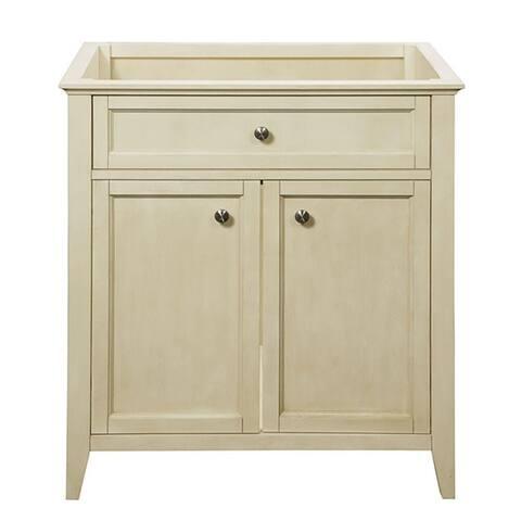 Jordan 30 inch Wood Vanity in Antique White