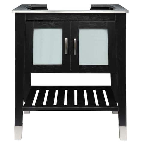 Briana 30 inch Wood Vanity with Black Ash Finish