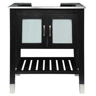 Link to Briana 30 inch Wood Vanity with Black Ash Finish Similar Items in Bathroom Vanities