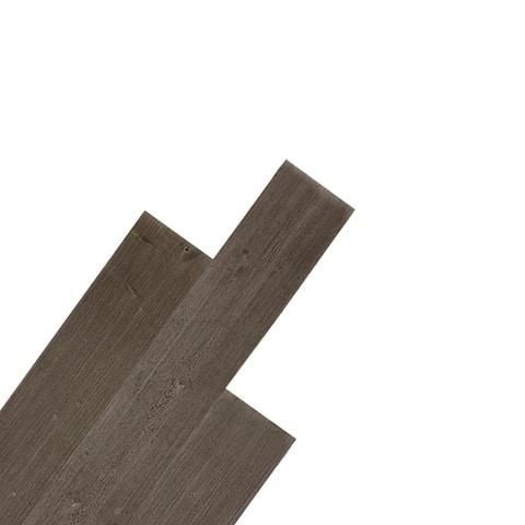"5"" W x 48"" L Reclaimed Peel & Stick Solid Wood Wall Paneling"