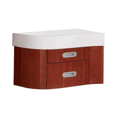 Casaya Collection Finished Left Drawer Cabinet in Cherry Wood