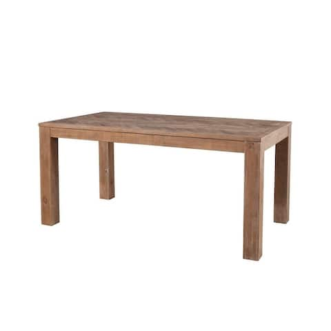 Aiden Fixed Top Wood Dining Table in Weathered Natural