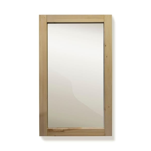 Bathroom Collection Unfinished 30 inch Solid Wood Mirror
