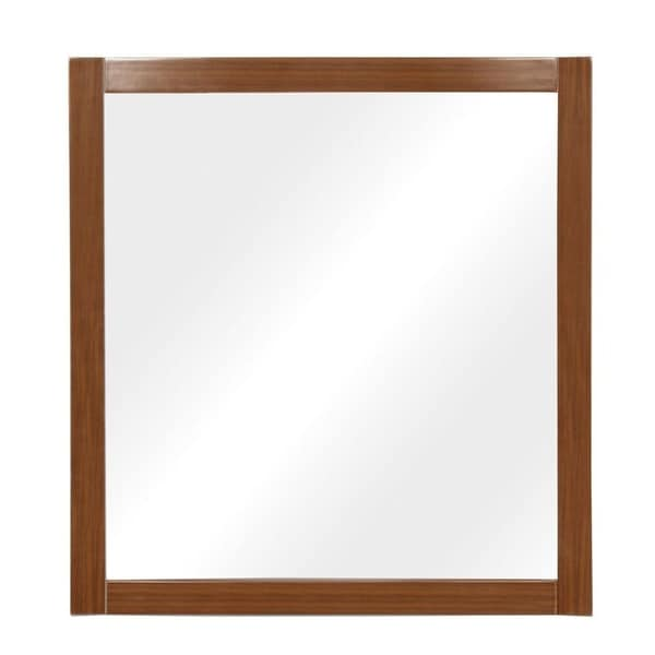 Gavin Collection 30 inch Wooden Wall Mirror