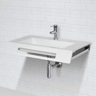 Link to Ellie Solid Surface ADA Compliant Wall Mount Bathroom Sink Similar Items in Sinks