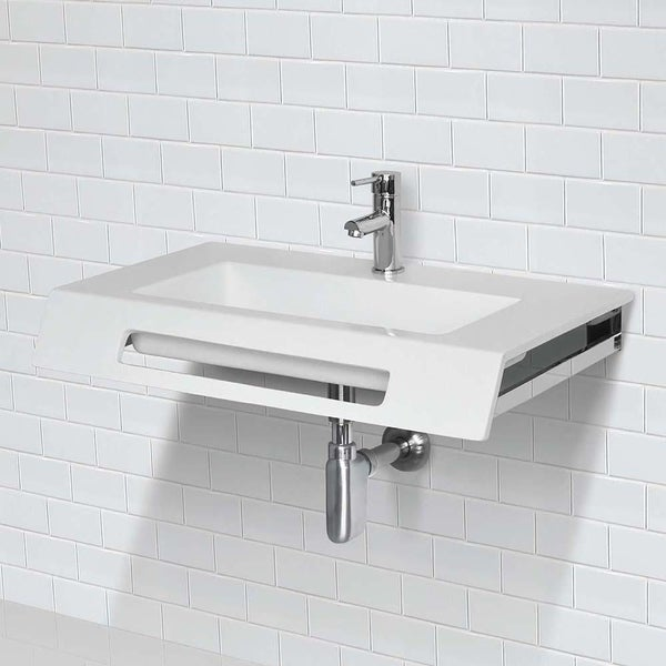 Ellie Solid Surface Ada Compliant Wall Mount Bathroom Sink On Sale Overstock 30860736
