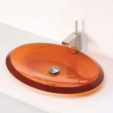 Incandescence Magma Oval Above-Counter Shallow Depth Resin Bathroom Sink