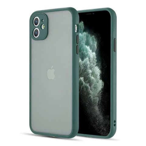 For Apple iPhone 11 Midnight Green Frosted Camera Protector Case Acrylic Cover
