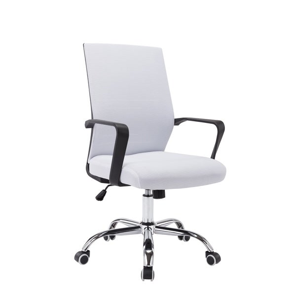 Vinsetto High Back Office Chair 360/° Swivel Rocking Height Adjustable Home Office PU Leather Black and White