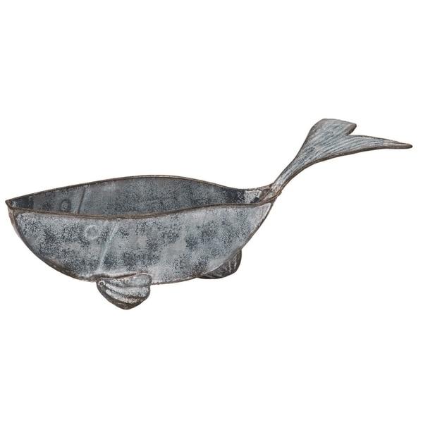 Transpac Metal 19 in. Bronze Spring Whale Trinket Dish