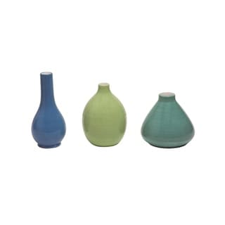 Link to Transpac Dolomite 4 in. Multicolor Spring Cool Color Vase Set of 3 Similar Items in Accent Pieces