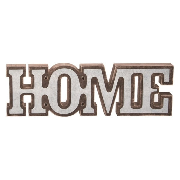 Transpac Wood 12 in. Brown Valentines Day Home Word Block Décor