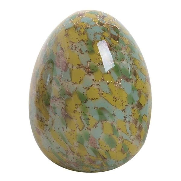 Transpac Glass 6 in. Multicolor Easter Confetti Egg Décor