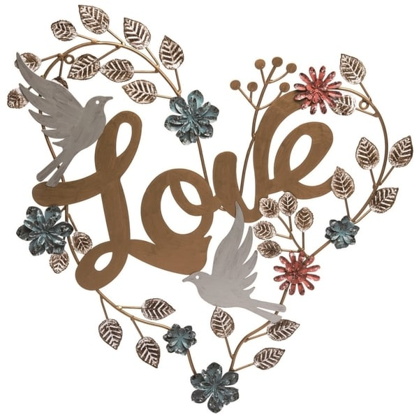 Transpac Metal 23 in. Bronze Spring Love and Heart Wall Sign. Opens flyout.