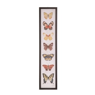Transpac  36 in. Multicolor Spring Botanical Butterfly Wall Décor