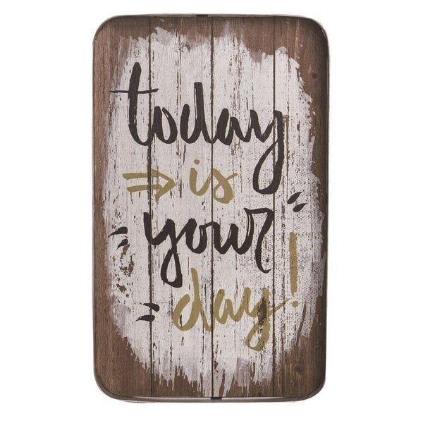 Transpac Metal 16 in. Multicolor Spring Your Day Hanging Wall Sign