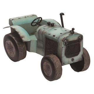 Transpac Metal 12 in. Silver Spring Vintage Tractor Décor