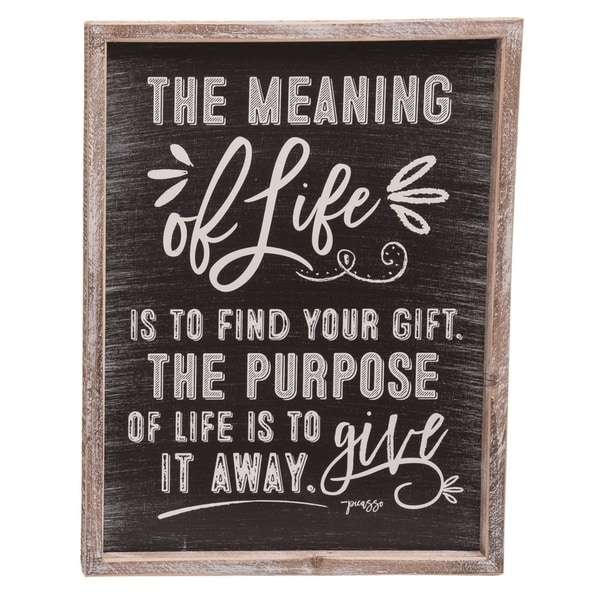 Transpac Wood 17 in. Brown Spring Chalkboard Motivational Sign