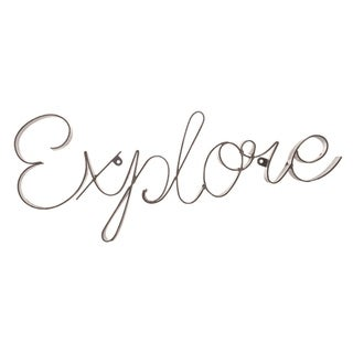 Link to Transpac Metal 17 in. Silver Spring Explore Motivational Word Wall Sign Similar Items in Decorative Accessories