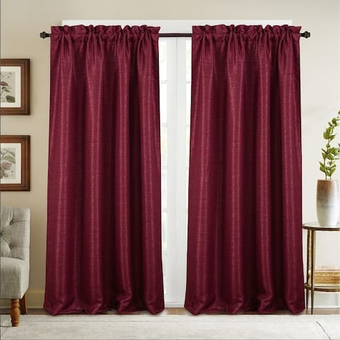 Naples Textured Jacquard Single Rod Pocket Curtain Panel - (1x) 53 x 84 in. - (1x) 53 x 84 in.