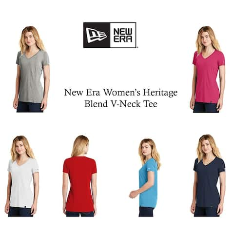 New Era Women's Heritage Blend V-Neck Tee