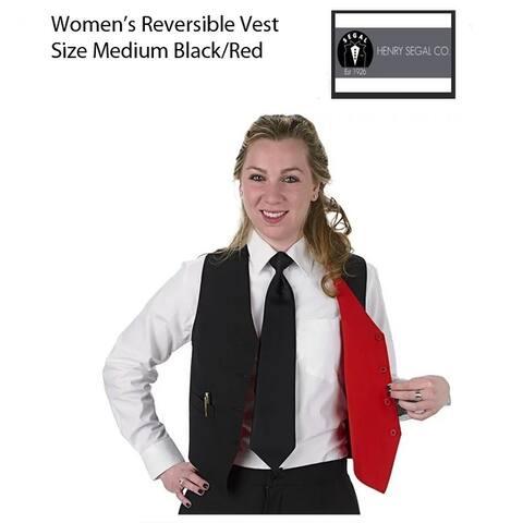 Womens Medium Professional Vest, Black/Red Reversible