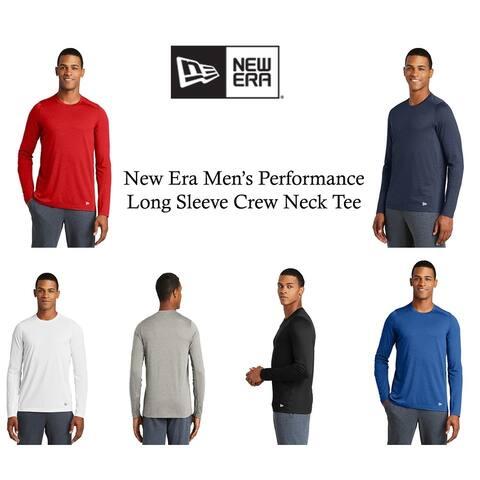 New Era Men's Performance Long Sleeve Crew Neck Tee