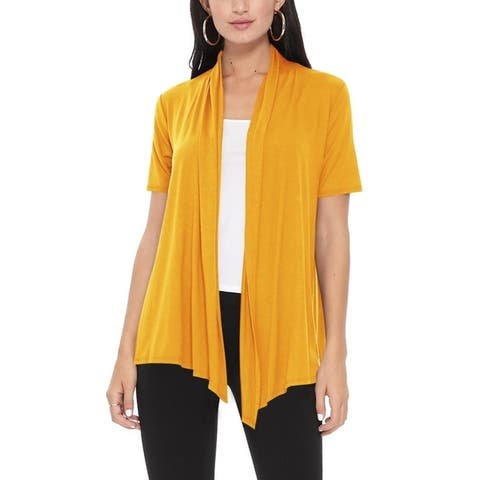 Women's Casual Solid Short Sleeve Basic Cardigan Jacket