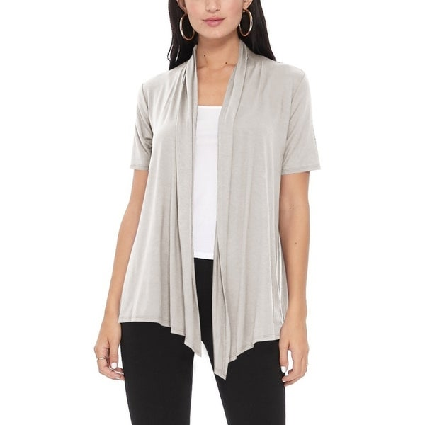 Women's Casual Solid Short Sleeve Basic Cardigan Jacket. Opens flyout.