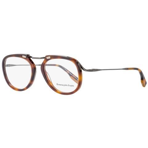 Ermenegildo Zegna EZ5124 052 Mens Dark Havana 50 mm Eyeglasses - Dark Havana
