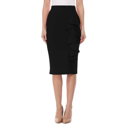 Women's High Waist Bodycon Midi Pencil Skirt