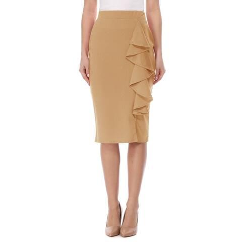 Women's High Waist Bodycon Midi Pencil Skirt