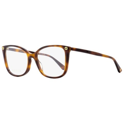 Gucci GG0026O 002 Womens Havana 53 mm Eyeglasses