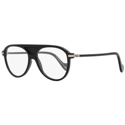Moncler ML5033 001 Mens Shiny Black 55 mm Eyeglasses - Shiny Black