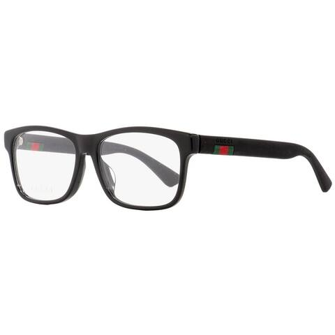 Gucci GG0176OA 001 Mens Black 56 mm Eyeglasses