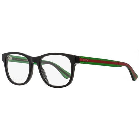 Gucci GG0004O 002 Unisex Black/Green/Red 53 mm Eyeglasses