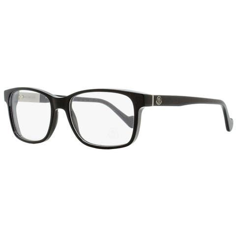 Moncler ML5012 001 Mens Shiny Black 54 mm Eyeglasses - Shiny Black