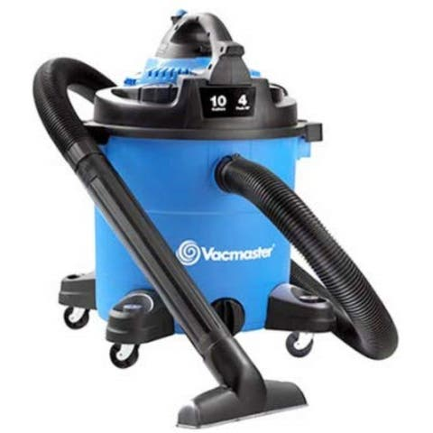 Vacmaster-10 Gallon 4 HP Wet/Dry Vacuum with Detachable Blower (VBVA1010PF), Blue