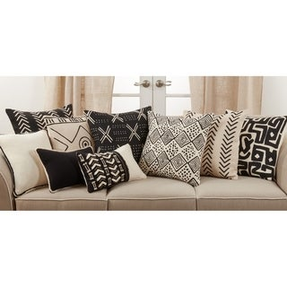 Link to Throw Pillow with Dark Mudcloth Design Similar Items in Decorative Accessories