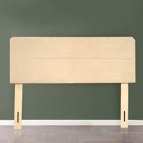 Upholstered Fabric Headboard, Grey/Beige (includes headboard only)