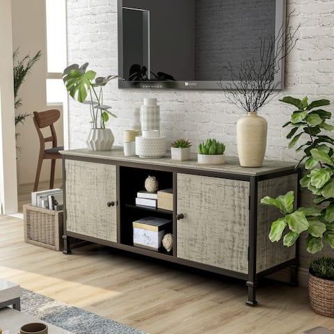 Furniture of America Romana Transitional Grey Multi-storage TV Stand